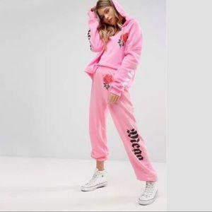 WILDFOX Mega Chic Sweat Pants Pink NWT